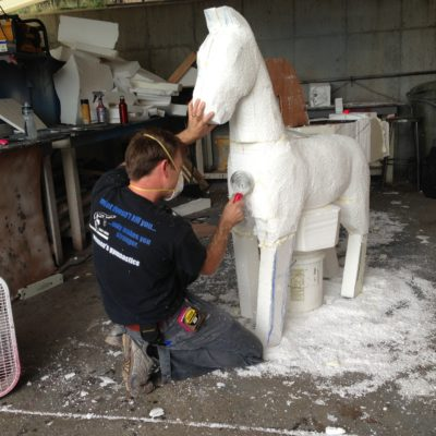 Carving horses
